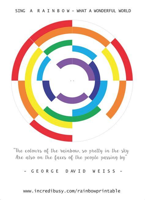 rainbow color wheel rainbow crafts colour wheel free printable incredibusy