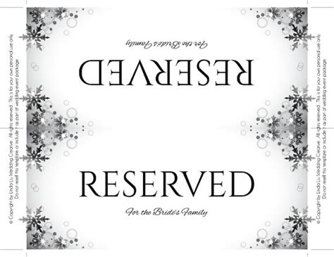 reserved sign template word reserved sign template card reserved card template