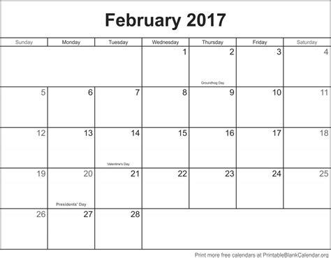 printable calendar february 2017 february 2017 printable blank calendar printable blank