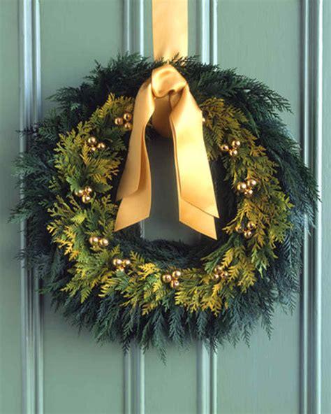 Pinterest Home Decor Fall golden cedar wreath martha stewart