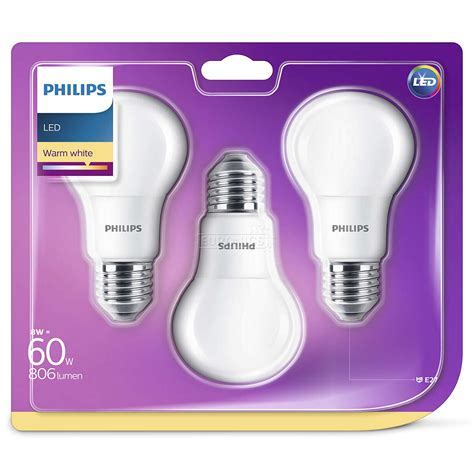 Led Philips led l philips e27 3 pcs 929001234381