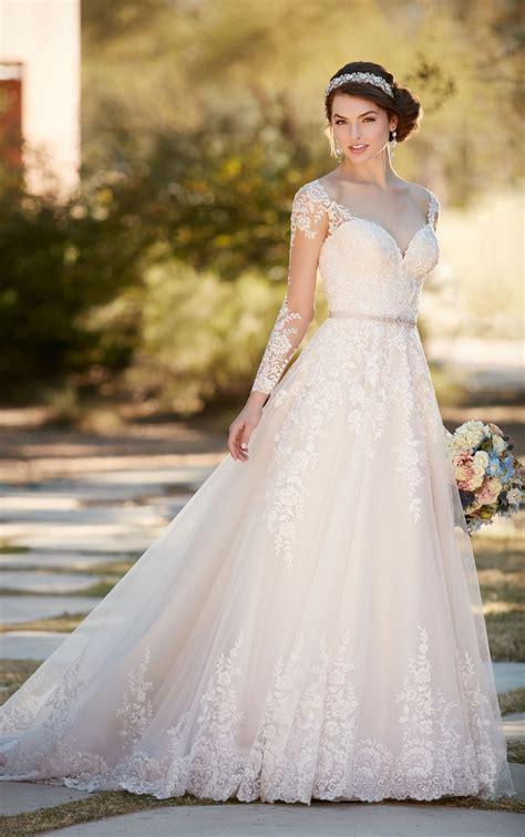 A Line Wedding Gowns by A Line Wedding Dress With Organza Skirt Essense Of Australia