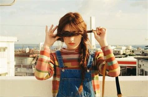 Overall Stripe Blouse shirt blouse sweater stripes overalls decades style
