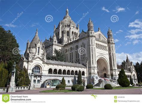 st therese basilica lisieux france basilica of st therese of lisieux france stock image