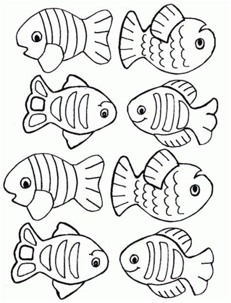 Multiple Fish Coloring Pages | pez para colorear para ni 241 os imagui