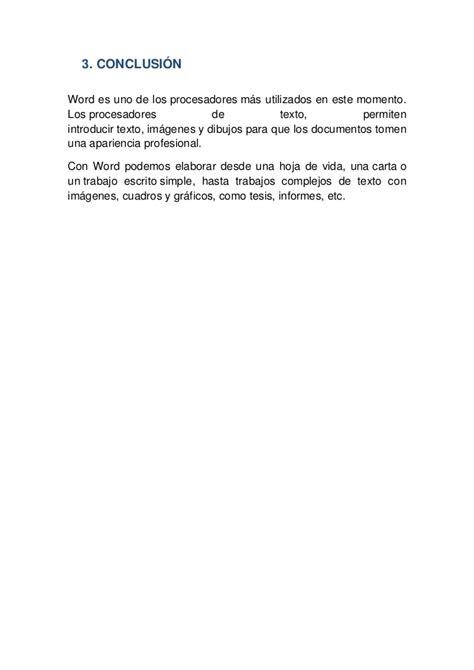 Word 2010 informe