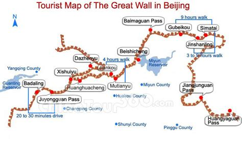 great wall sections great wall of china map travel maps of badaling
