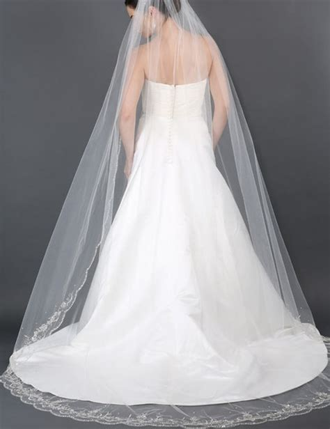 beaded cathedral veil bel aire bridal veils v7176c cathedral scallop beaded