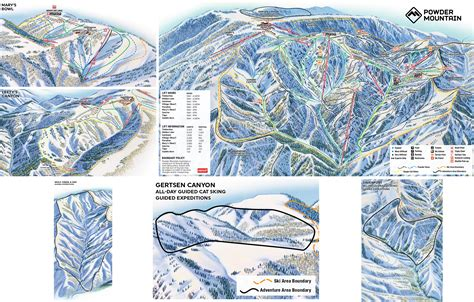 mountain map powder mountain resort