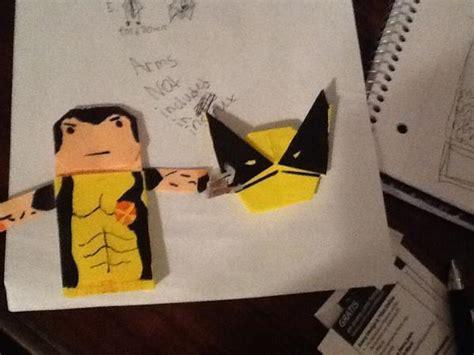 Wolverine Origami - kirigami wolverine instrux origami yoda