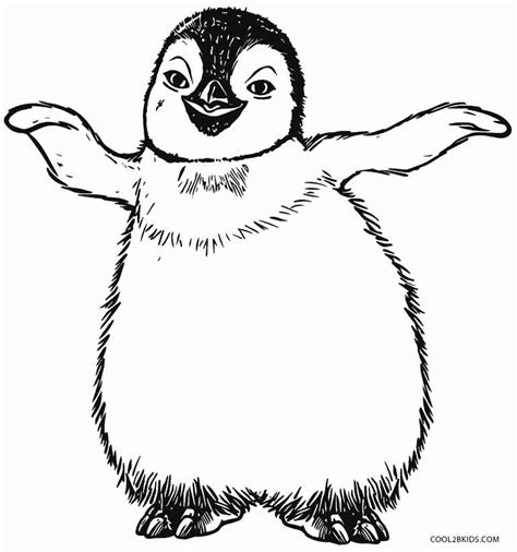coloring page for penguin printable penguin coloring pages for kids cool2bkids