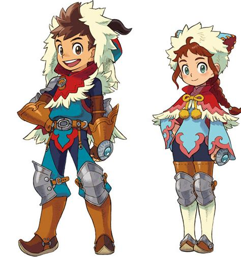 hunter boys true tales 1909808032 again with the jewelry monster hunter stories and character design nymg
