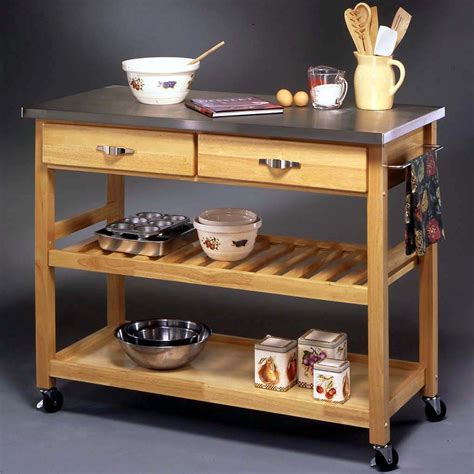 portable kitchen counter space small kitchen trolley granite top essential home 3 tier portable kitchen cart home