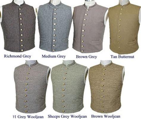 C.S. Civil War uniform vest and civilian vests