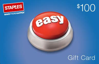 Use Staples Gift Card Online - 85 for 100 staples gift card free shipping today only
