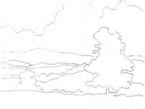 Outline Of A Portrait by Landscape Outline Drawing Phil Metzger Artist S Network