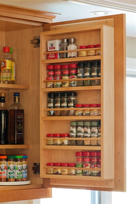 Large Wooden Spice Racks Wall Mounted Organize Your Cabinets Custom Cabinets
