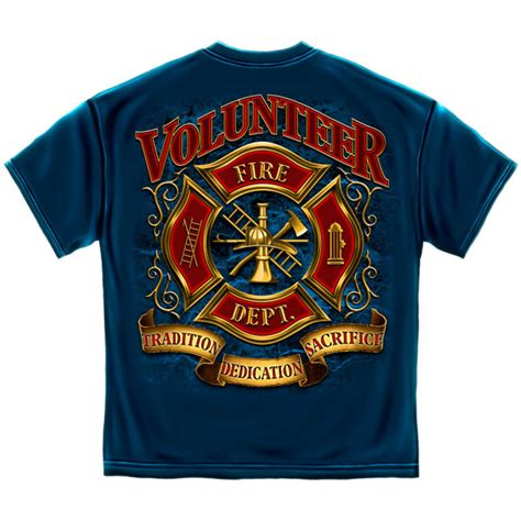 can volunteer firefighters have lights and sirens volunteer fire department t shirt teesforall com