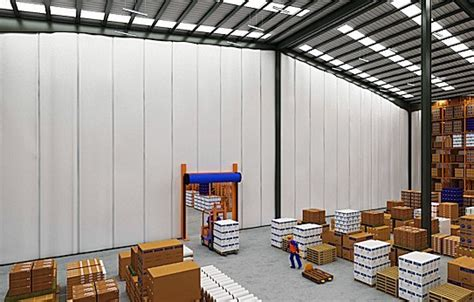 thermal curtains warehouse insulated warehouse curtains akon curtain and dividers
