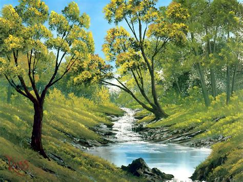 bob ross landscape painting عکس نقاشی های باب راس