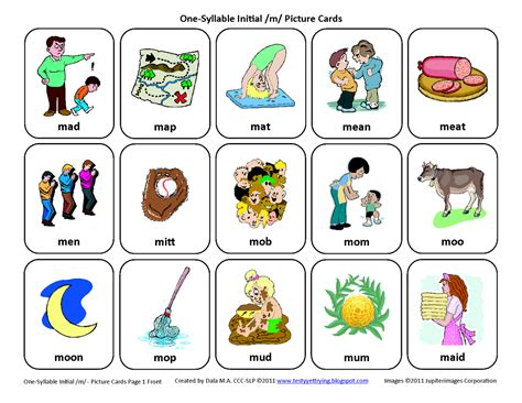 free therapy testy yet trying initial m free speech therapy articulation picture cards
