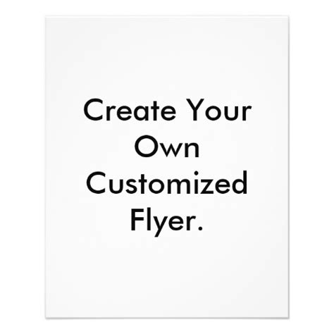 Create Your Own Customized Flyer Flyer Zazzle Make Your Own Flyers Templates