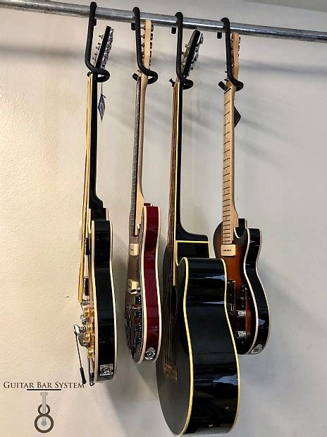 Guitar Closet Hanger by Guitar Bar Closet Hanger Safely Store Your Guitar Electric Reverb