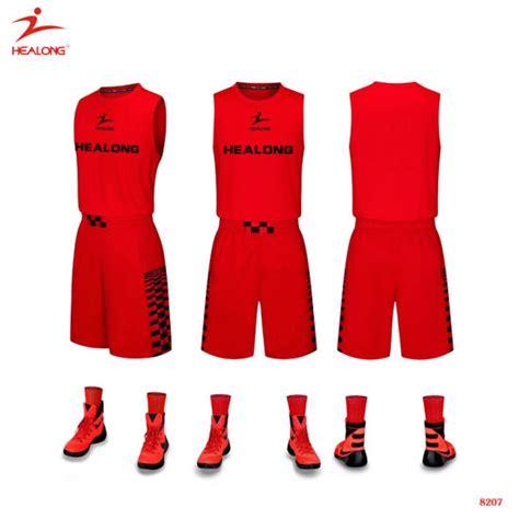 customize basketball jersey dress china healong custom sublimated red basketball uniform