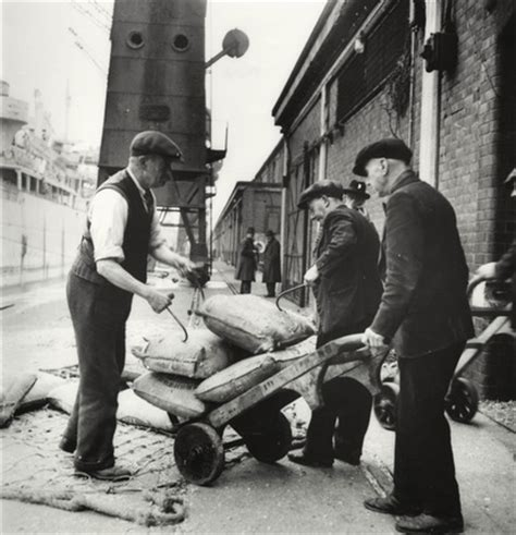 london dockers: 1950 by pla staff photographer at museum