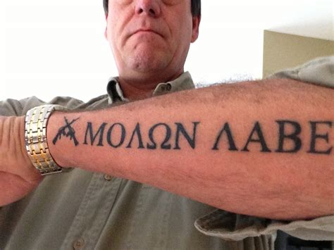 molon labe tattoo pinterest