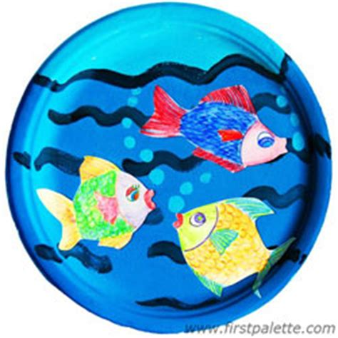 Paper Fish Bowl Craft - paper plate fish bowl craft crafts firstpalette