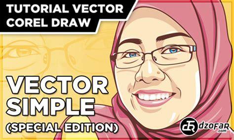 tutorial vector mudah cara mudah edit wajah menjadi kartun sang vectoria jenaka
