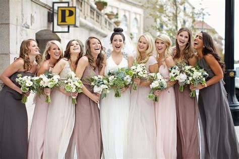 bridesmaid colors best 25 bridesmaid dresses different colors ideas on