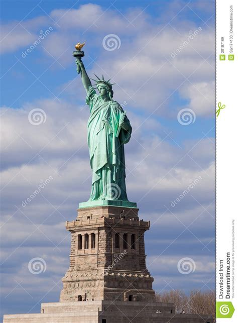 statue  liberty   york city stock image