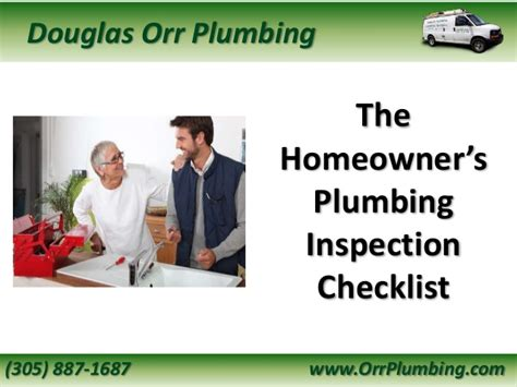 Orr Plumbing by The Homeowner S Plumbing Inspection Checklist