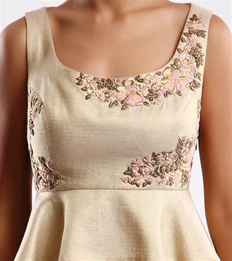 beadwork on kurti beige pink embroidered lehenga set stitching ideas