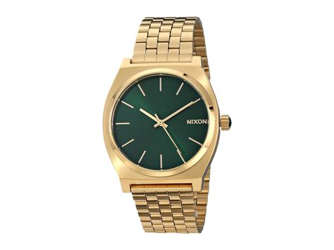 Nixon The Time Teller in Gold (Gold/Green Sunray)   Lyst