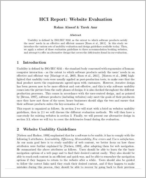 website evaluation report template 12 sle evaluation report free sle exle format