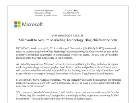 Offer Letter Business Acquisition Microsoft Announces Acquisition Of Chiefmartec Chief