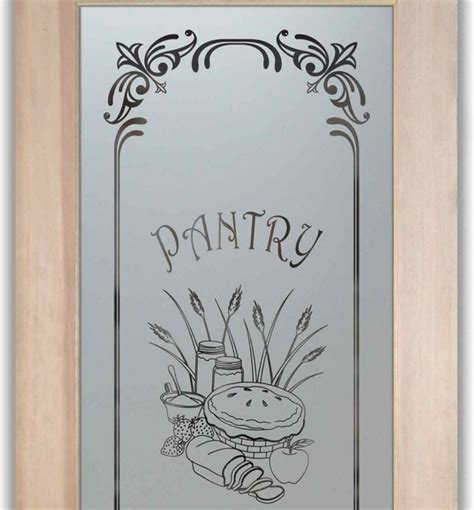 Pantry Doors Frosted Etched Glass Designs Eclectic Etched Glass Pantry Doors Kitchen