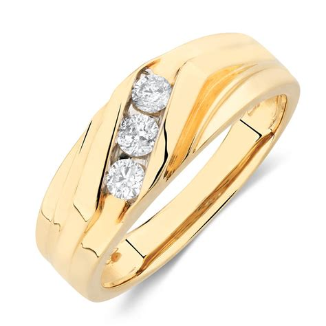 Mens Ring by S Ring With 1 3 Carat Tw Of Diamonds In 10kt Yellow Gold