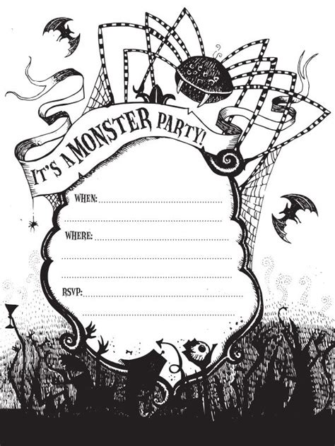 printable halloween invitations to color 21 free halloween invitations that you can print