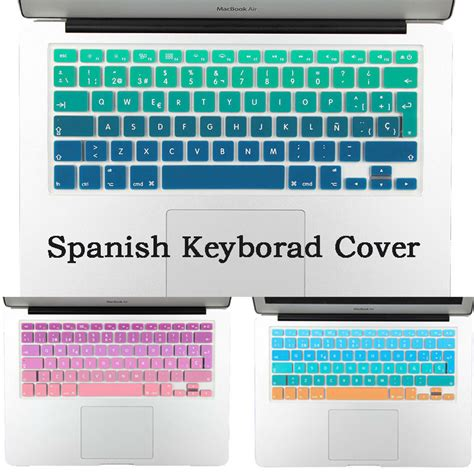Gradient Keyboard Protection Aksesoris Macbook Mac Book Laptop rainbow gradient silicone keyboard cover skin