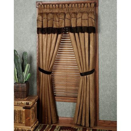western curtain ideas easy style team roping panel with attached valance