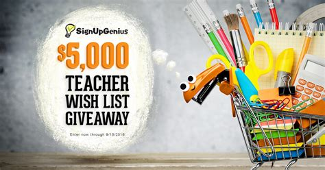 Wish App Daily Giveaway - 5 000 teacher wish list giveaway