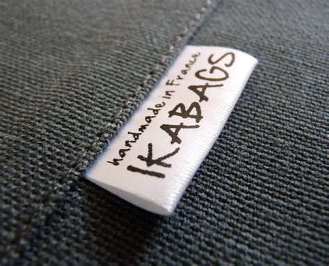 Handmade By Labels Personalised - custom printed fabric labels 150 pcs satin folded care label