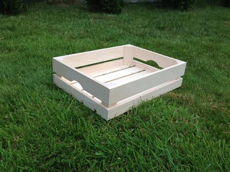 strong crate strong untreated plain tray wooden crate storage craft box vegetable container