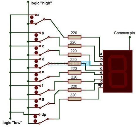 led resistor calculator 7 segment 28 images led display using seven segment displays part 2