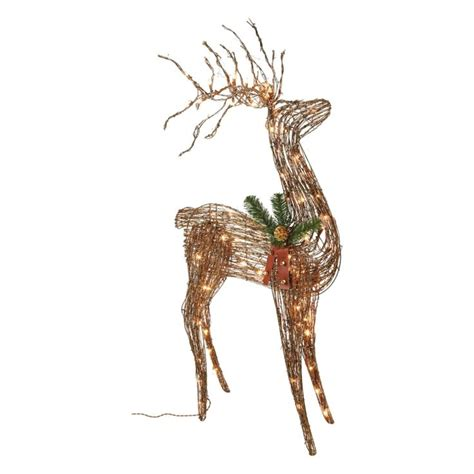 lighted grapevine reindeer outdoor christmas 24 best images about decorative on outdoor reindeer and clock