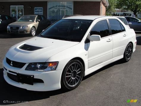 mitsubishi evolution 2006 white 2006 mitsubishi lancer evolution ix mr
